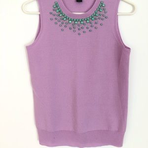 J. Crew Collection Embellished Neck Sweater Shell